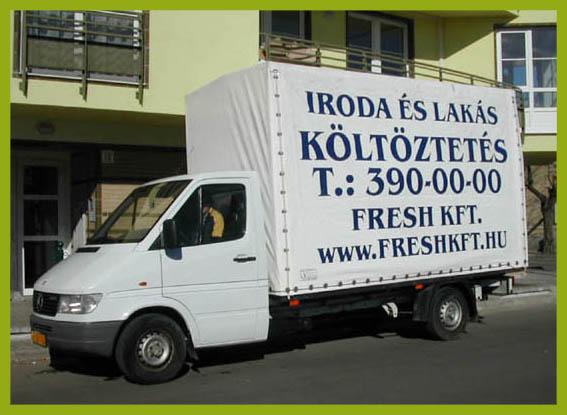 Iroda költöztetés 3,5 tonnás teherautó.