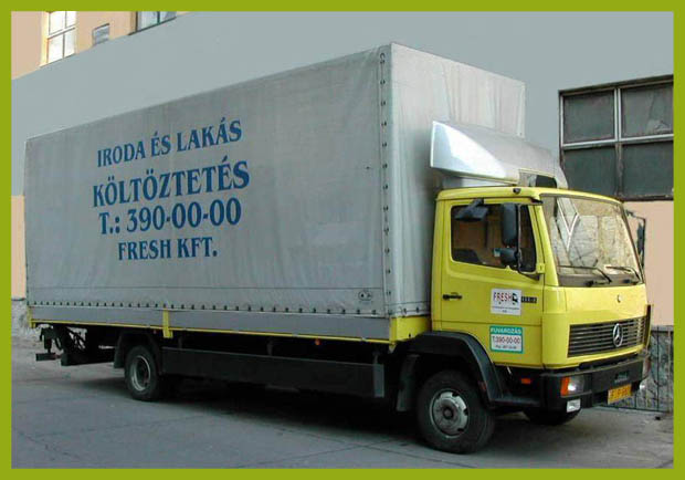 Irodaköltöztetés 5 tonnás teherautó.